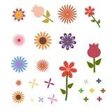 Einfaches Blumenzeichnen Lizenzfreie Stockfotos