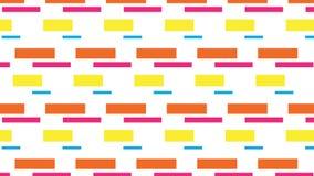 Einfaches buntes Block- und Rechteckmuster Stockbilder