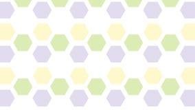 Einfaches buntes Hexagonmuster Stockbilder