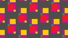 Einfaches buntes quadratisches Muster Stockfotos