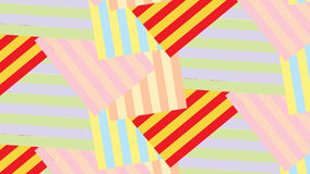 Einfaches buntes Streifen- und Formmuster Stockfotografie