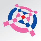 einfaches croshair 3d Symbol Lizenzfreie Stockfotografie