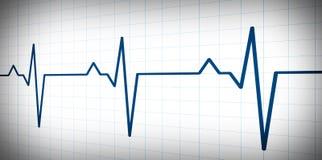 Einfaches Diagramm der Audios- oder Impulsschlagwelle Stockbild