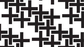 Einfaches einfarbiges abstraktes Pluszeichenmuster Stockbilder