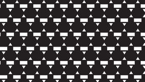 Einfaches einfarbiges kleines Dreieck- und Rechteckmuster Lizenzfreie Stockfotografie