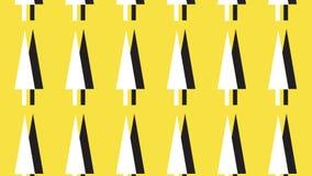 Einfaches einfarbiges und gelbes Pfeilkopfmuster Stockbilder