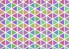 Einfaches Farbdreieckmuster stockbild