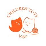 Einfaches flaches Logo des Vektors Kinder Lizenzfreies Stockbild