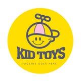 Einfaches flaches Logo des Vektors Kinder Lizenzfreie Stockfotografie