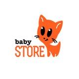 Einfaches flaches Logo des Vektors Kinder Stockfoto
