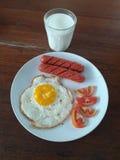Einfaches Frühstück Stockfotos