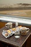 Einfaches französisches Frühstück Stockfotografie