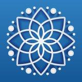 Einfaches geometrisches Mandalafirmenzeichen Kreislogo für Butike, Blumenladen, Geschäft, Innen Stockfotos
