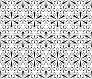Einfaches geometrisches nahtloses mit Blumenmuster Stockbild