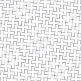 Einfaches geometrisches vektormuster - graue Kreuze Stockbild