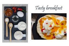 Einfaches geschmackvolles Frühstück für Ihre Familie stockfoto