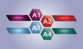 Einfaches glattes Infographic-Element für lizenzfreie abbildung