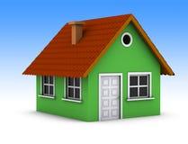 Einfaches grünes Haus Lizenzfreie Stockfotografie