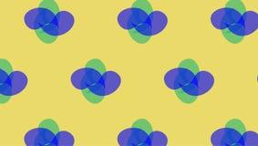 Einfaches grünes und blaues abstraktes Formmuster Stockfotos