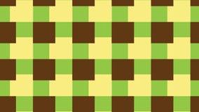 Einfaches grünes und braunes Blockmuster Stockfotos