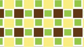 Einfaches grünes und braunes quadratisches Muster Lizenzfreie Stockfotos