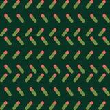 Einfaches Grünkorallenmuster, einfache Formen und nette collours lizenzfreie abbildung