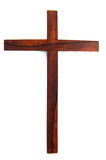Einfaches hölzernes Kreuz Stockbild