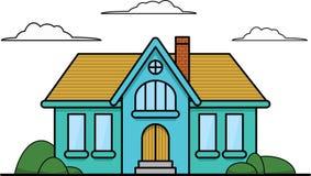 Einfaches Haus Stockbild