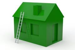 Einfaches Haus 3D mit Treppenhaus Lizenzfreie Abbildung