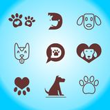 Einfaches Haustier-Logo, Hundelogo, Tier-Logo, Ikone lizenzfreie abbildung