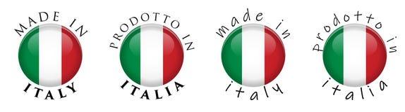 Einfaches hergestellt in Italien Prodotto in italienischer Übersetzung 3 Italiens stock abbildung