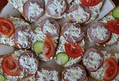 Einfaches kleines sandwiches_3 Lizenzfreies Stockfoto