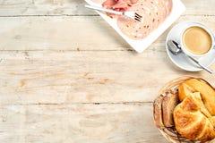 Einfaches kontinentales des internationalen Frühstücks Lizenzfreie Stockbilder