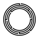 Einfaches Kreislabyrinthlogo lizenzfreie abbildung