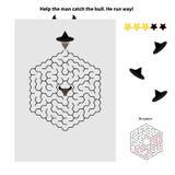 Einfaches Labyrinth für Kinder Lizenzfreie Stockfotos