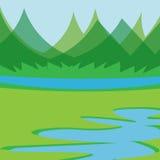 Einfaches Landschaftsdesign Stockbild