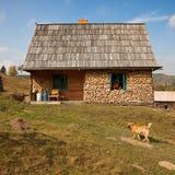 Einfaches landwirtschaftliches Haus Lizenzfreies Stockbild