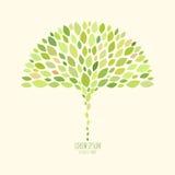 Einfaches Logodesign mit Blättern Stockfoto