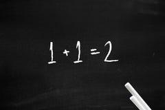 Einfaches Mathe Stockfoto