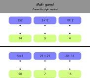 Einfaches Mathespiel für Kinder Lizenzfreies Stockbild