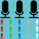 Einfaches Mikrofon im Retrostil vektor abbildung