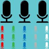 Einfaches Mikrofon mit schwierigem Sonnenlicht stock abbildung