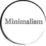 Einfaches Minimalismus-Logo Stockfoto
