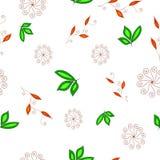 Einfaches mit Blumennahtloses Stockbild