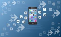 Einfaches Mobile über der Luftwert-Übertragung Lizenzfreie Stockfotos
