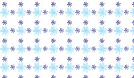 Einfaches modernes abstraktes Blau- und Indigoblumenmuster Stockfotografie
