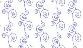 Einfaches modernes abstraktes blaues Strudelblumenmuster Lizenzfreie Stockfotografie