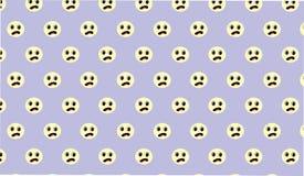 Einfaches modernes abstraktes blaues trauriges Gesichtsmuster Lizenzfreies Stockfoto