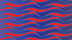 Einfaches modernes abstraktes blaues und rotes Wellenmuster Stockbilder
