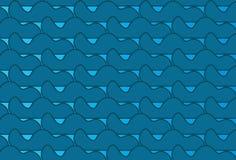 Einfaches modernes abstraktes blaues Wellenmuster Lizenzfreies Stockbild